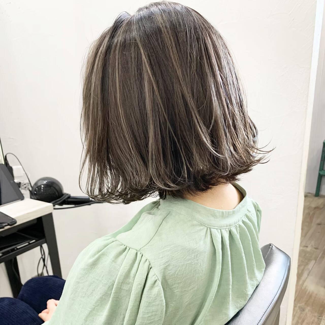 ショートボブ ナチュラル ミニボブ ボブヘアスタイルや髪型の写真・画像