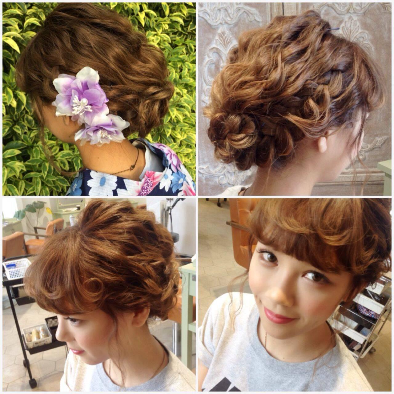 ナチュラル ゆるふわ 編み込み ヘアアレンジヘアスタイルや髪型の写真・画像