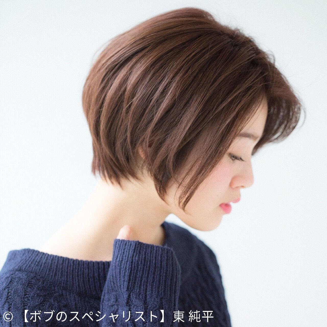 色気 ショート ボブ 簡単ヘアアレンジヘアスタイルや髪型の写真・画像