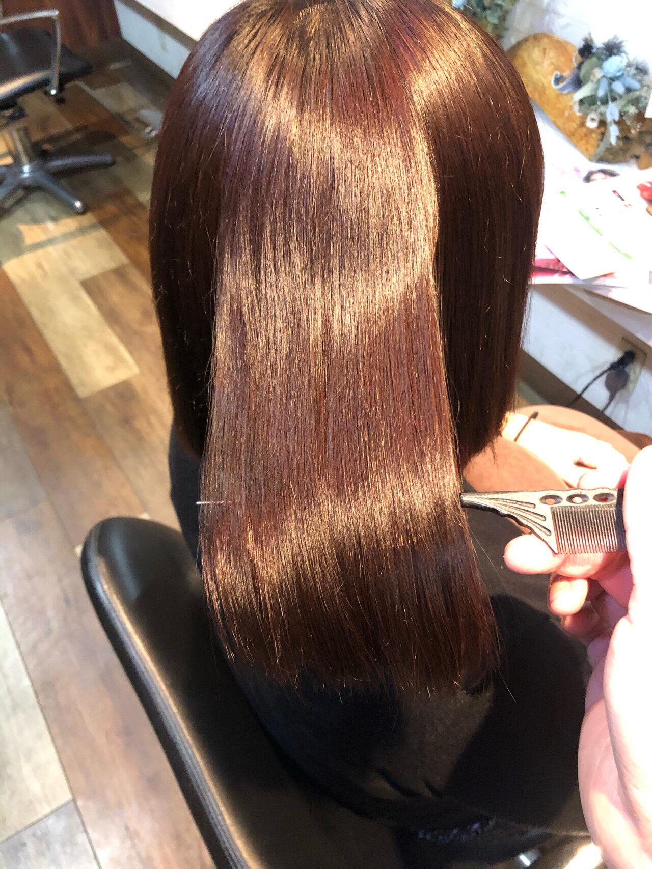 美髪 髪質改善 髪質改善トリートメント 髪質改善カラーヘアスタイルや髪型の写真・画像