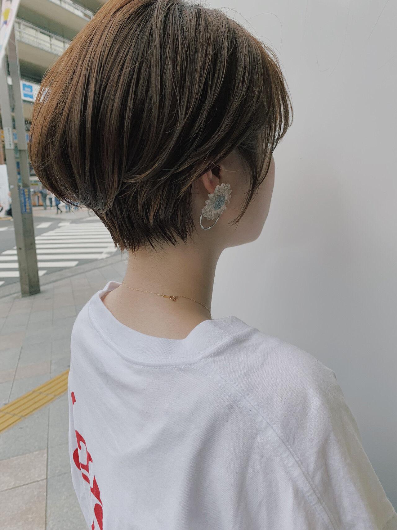 ショートボブ デート ショート ヘアアレンジヘアスタイルや髪型の写真・画像