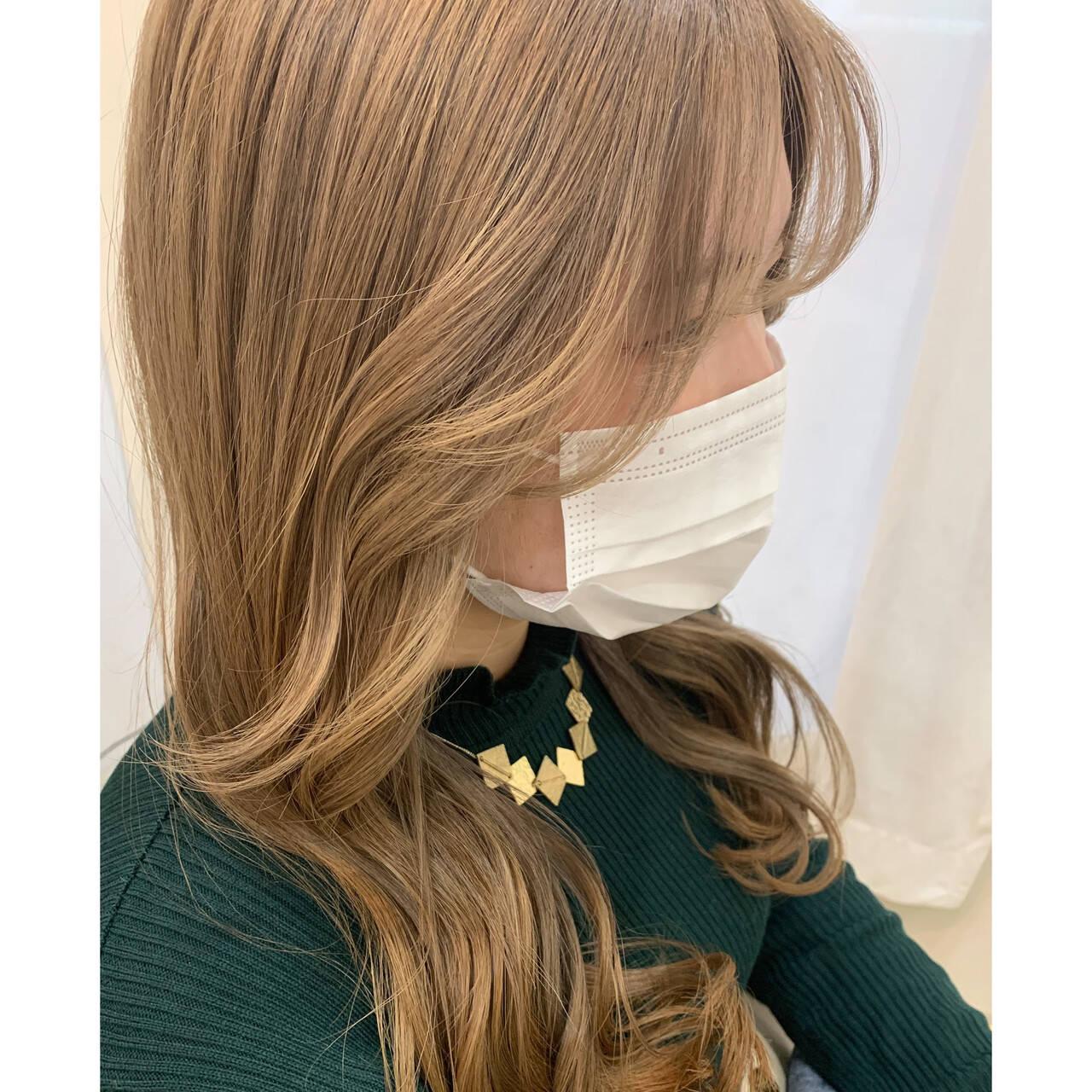 ロング ヘアアレンジ セルフアレンジ 後れ毛ヘアスタイルや髪型の写真・画像