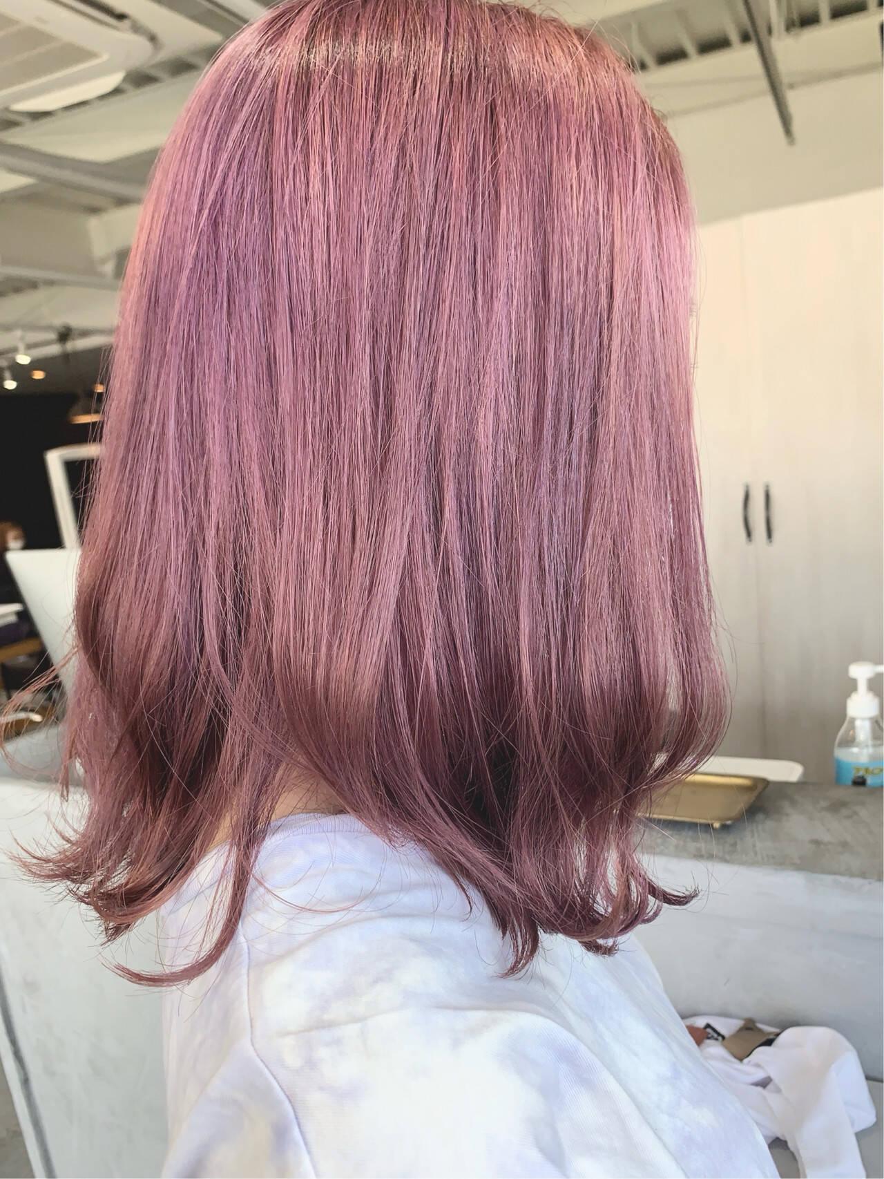 ブリーチオンカラー ブリーチ必須 透明感カラー ナチュラルヘアスタイルや髪型の写真・画像