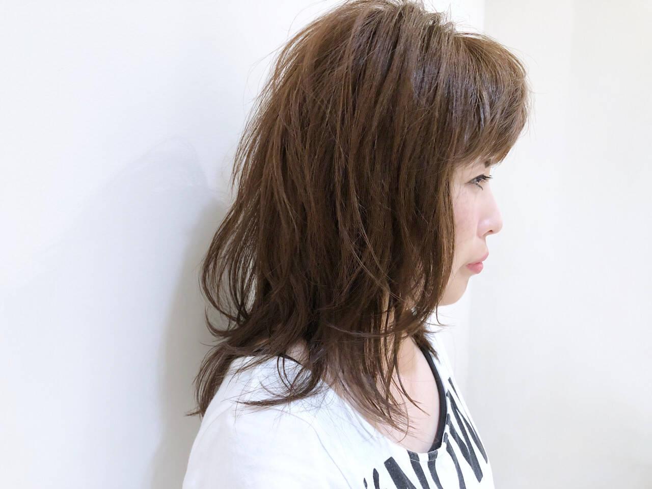 すっきり 涼しげ ミディアム デートヘアスタイルや髪型の写真・画像