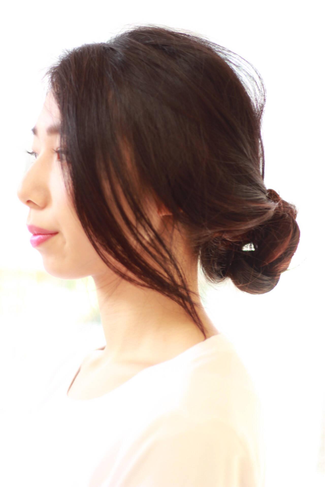 ヘアアレンジ 黒髪 大人かわいい ロングヘアスタイルや髪型の写真・画像