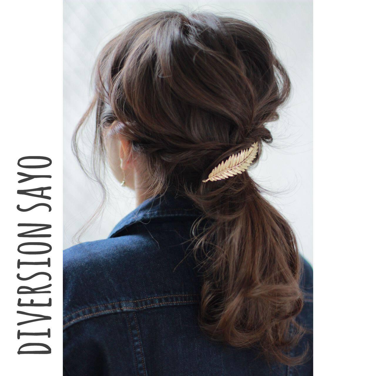 ロープ編み ナチュラル 編み込み ゆるふわヘアスタイルや髪型の写真・画像