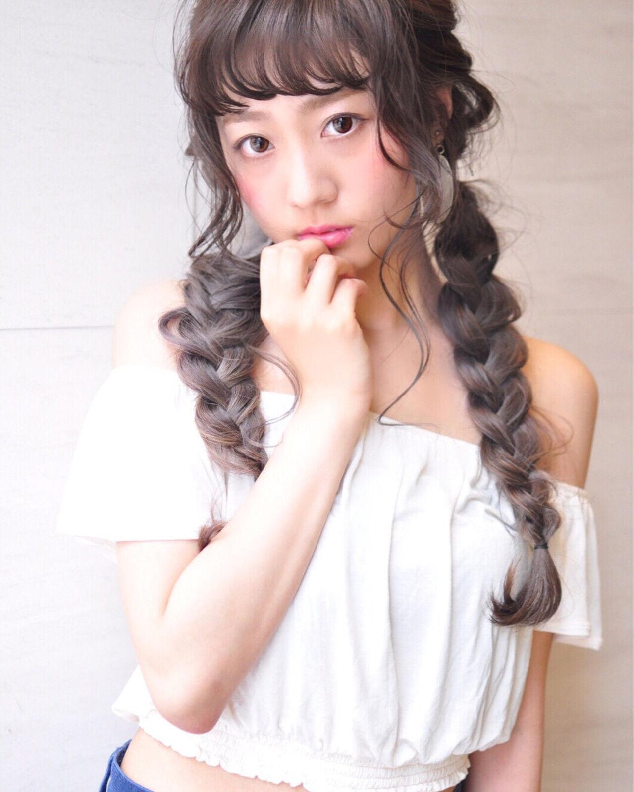グラデーションカラー 外国人風カラー ハイライト ガーリーヘアスタイルや髪型の写真・画像