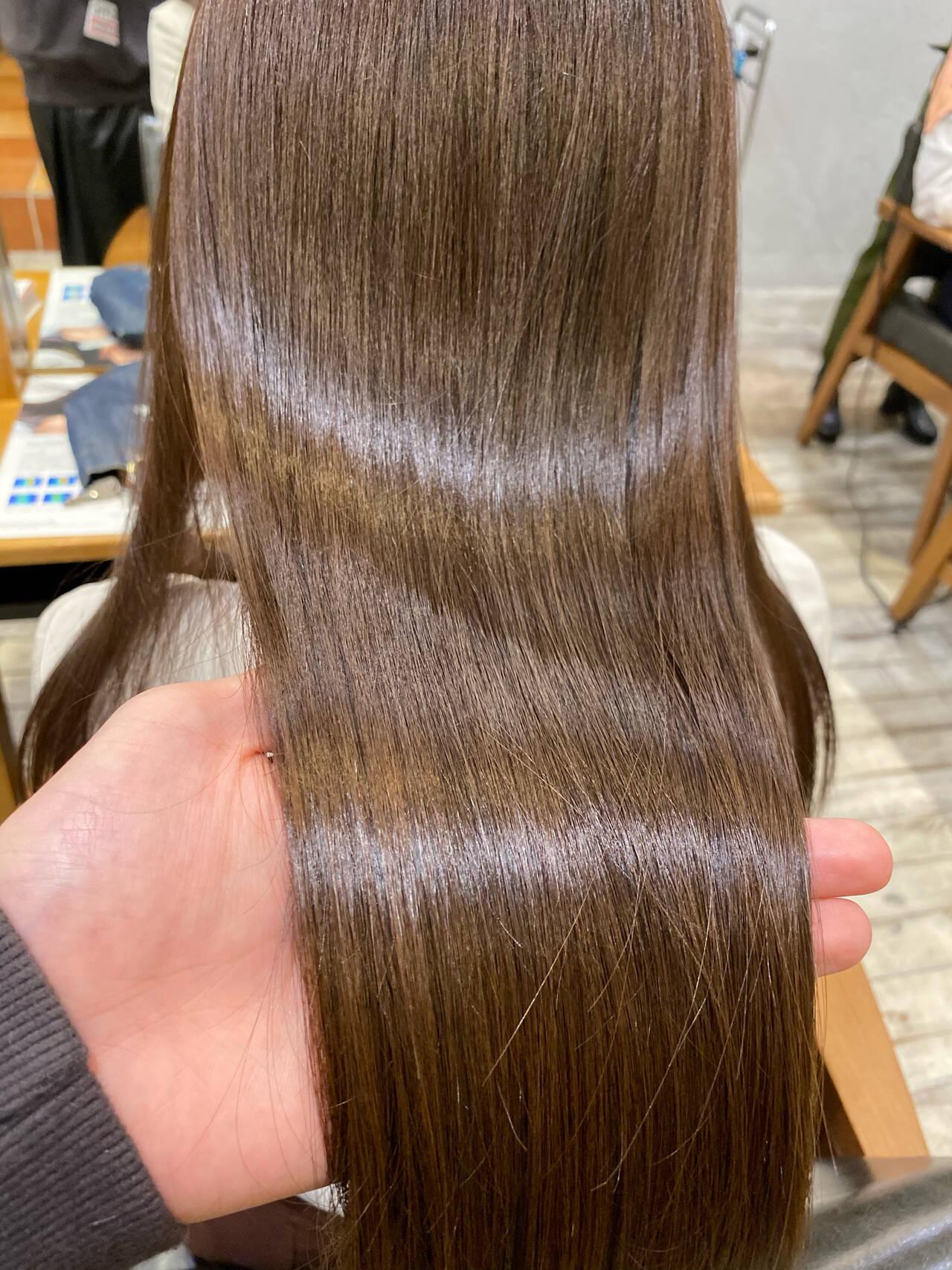 髪質改善 ミディアム 髪質改善トリートメント 最新トリートメントヘアスタイルや髪型の写真・画像