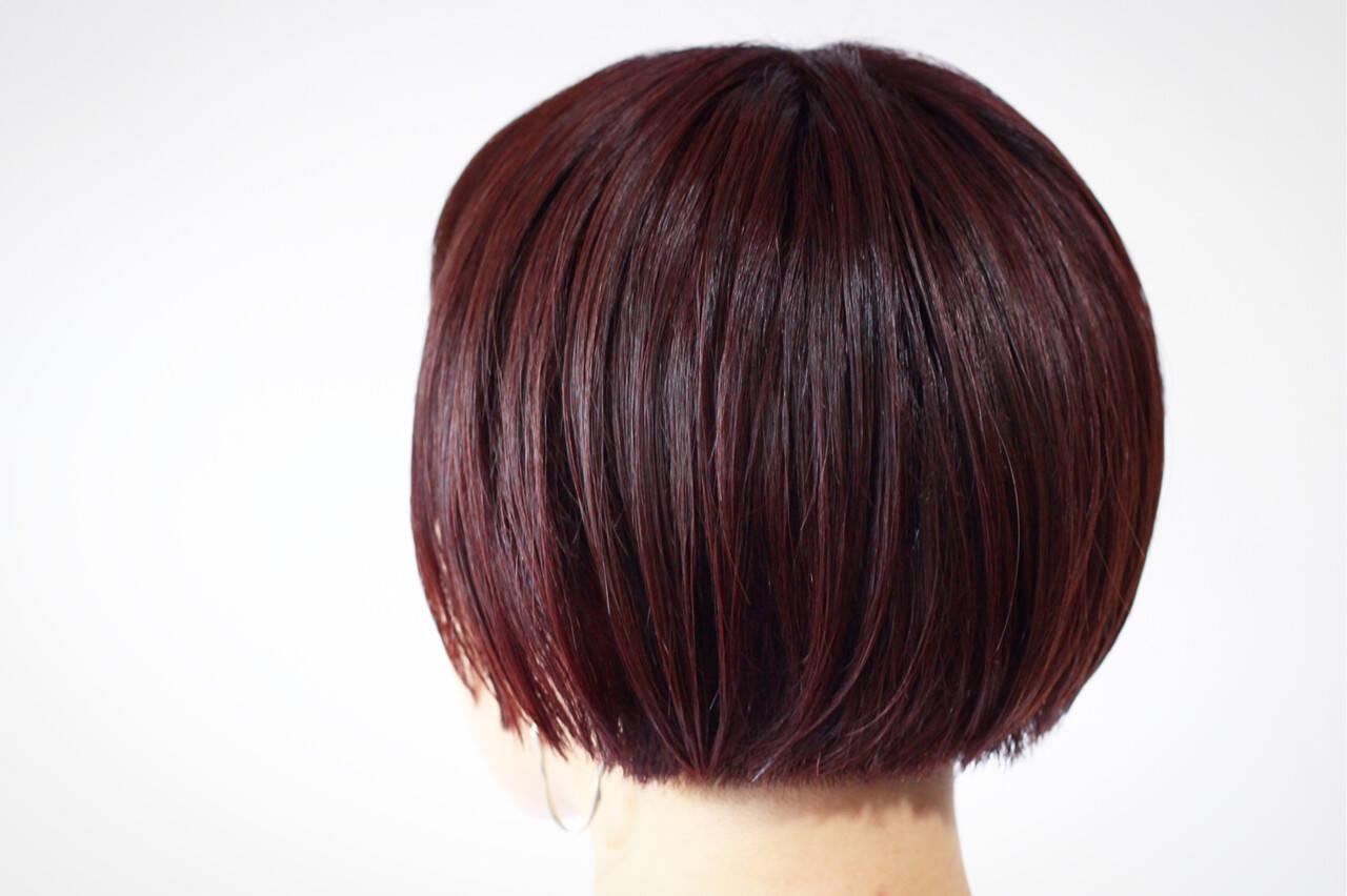 ナチュラル マッシュヘア ピンクアッシュ ラベンダーピンクヘアスタイルや髪型の写真・画像