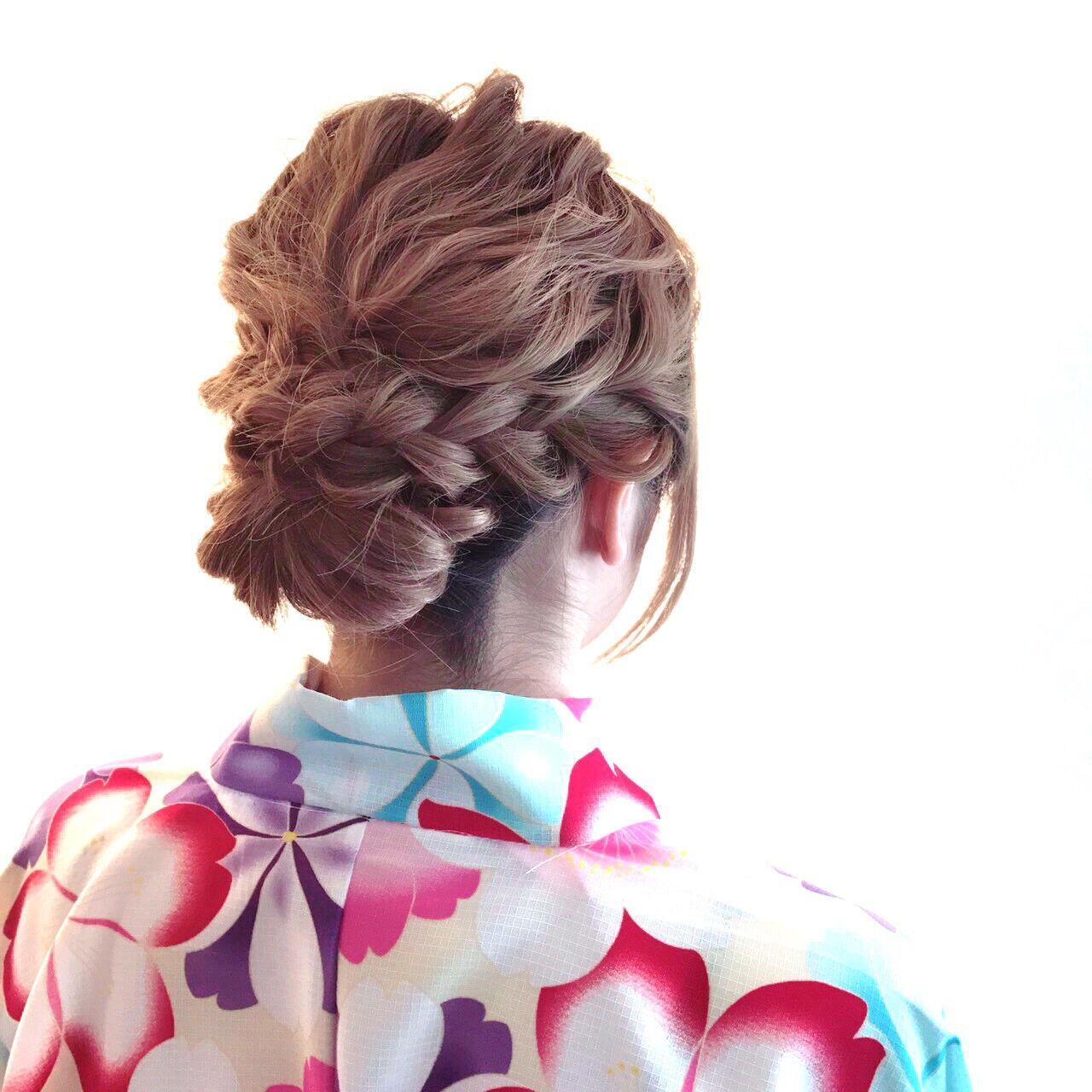 パーティ 結婚式 ロング ゆるふわヘアスタイルや髪型の写真・画像