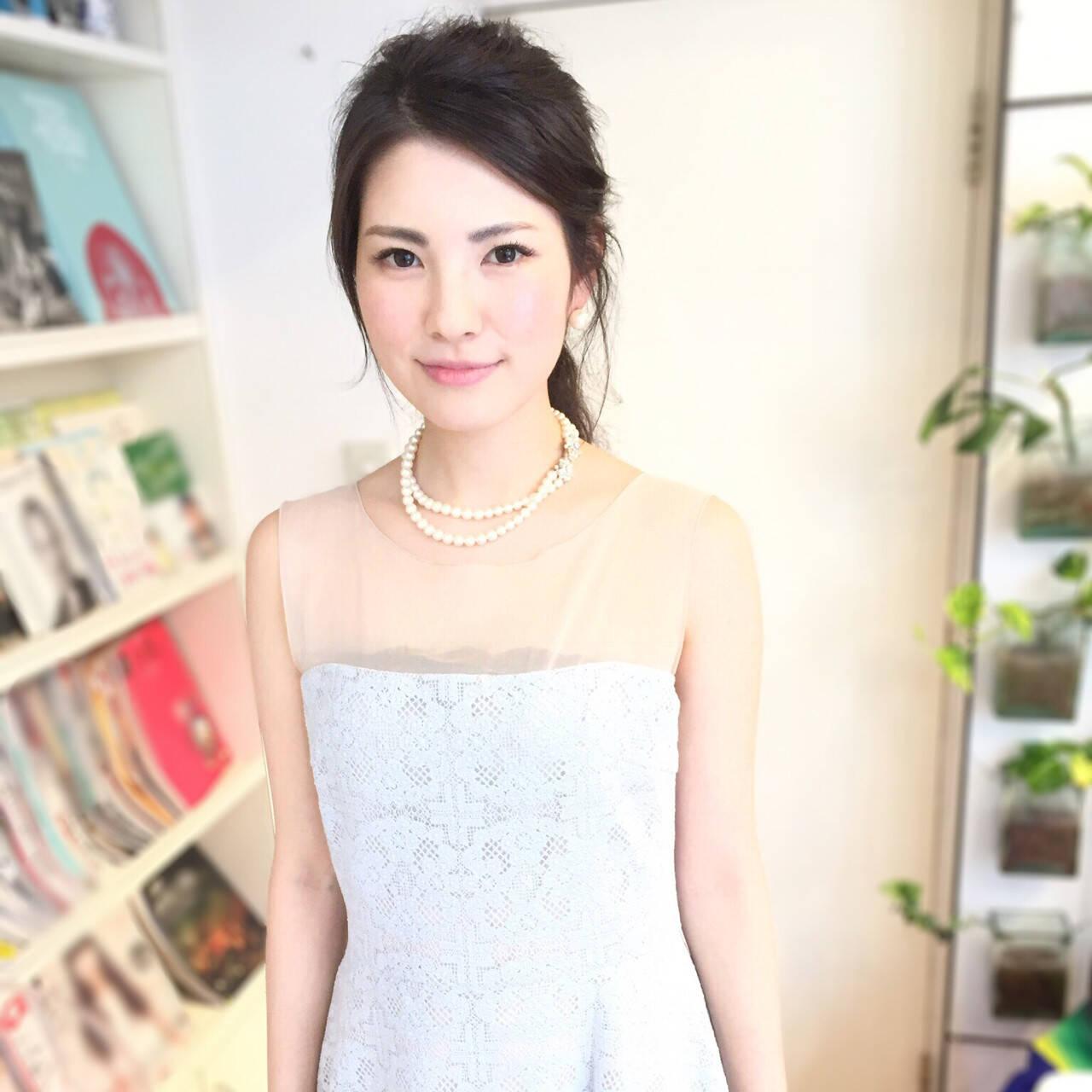 結婚式 外国人風 涼しげ ヘアアレンジヘアスタイルや髪型の写真・画像