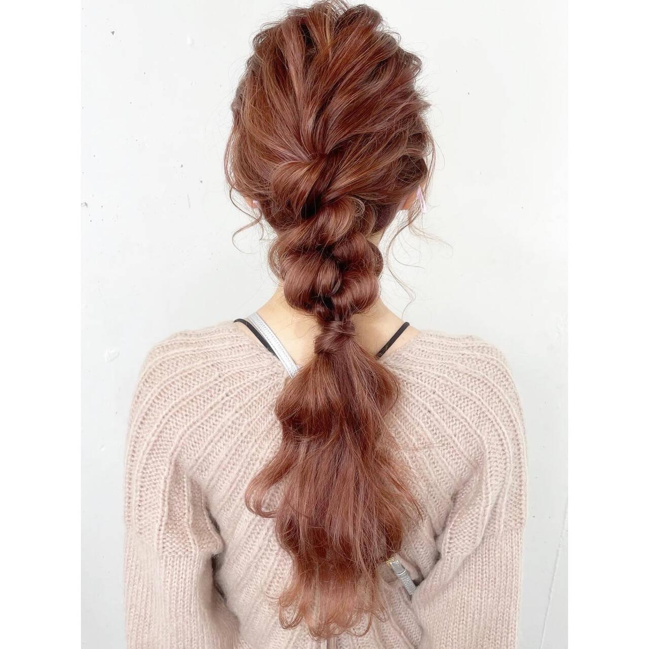 ヘアアレンジ 簡単ヘアアレンジ セルフヘアアレンジ ロングヘアスタイルや髪型の写真・画像