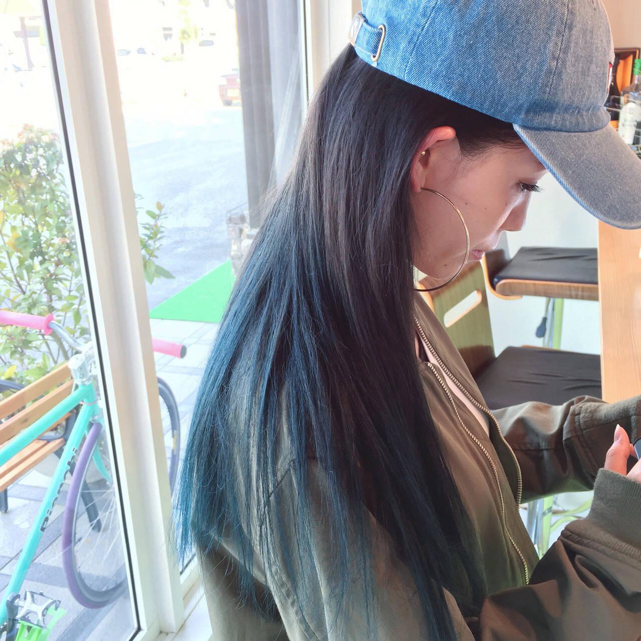 夏 外国人風 グラデーションカラー ヘアアレンジヘアスタイルや髪型の写真・画像