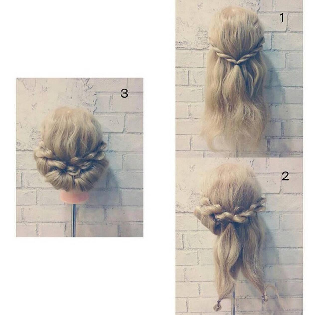 ロング 渋谷系 ヘアアレンジ パーティヘアスタイルや髪型の写真・画像