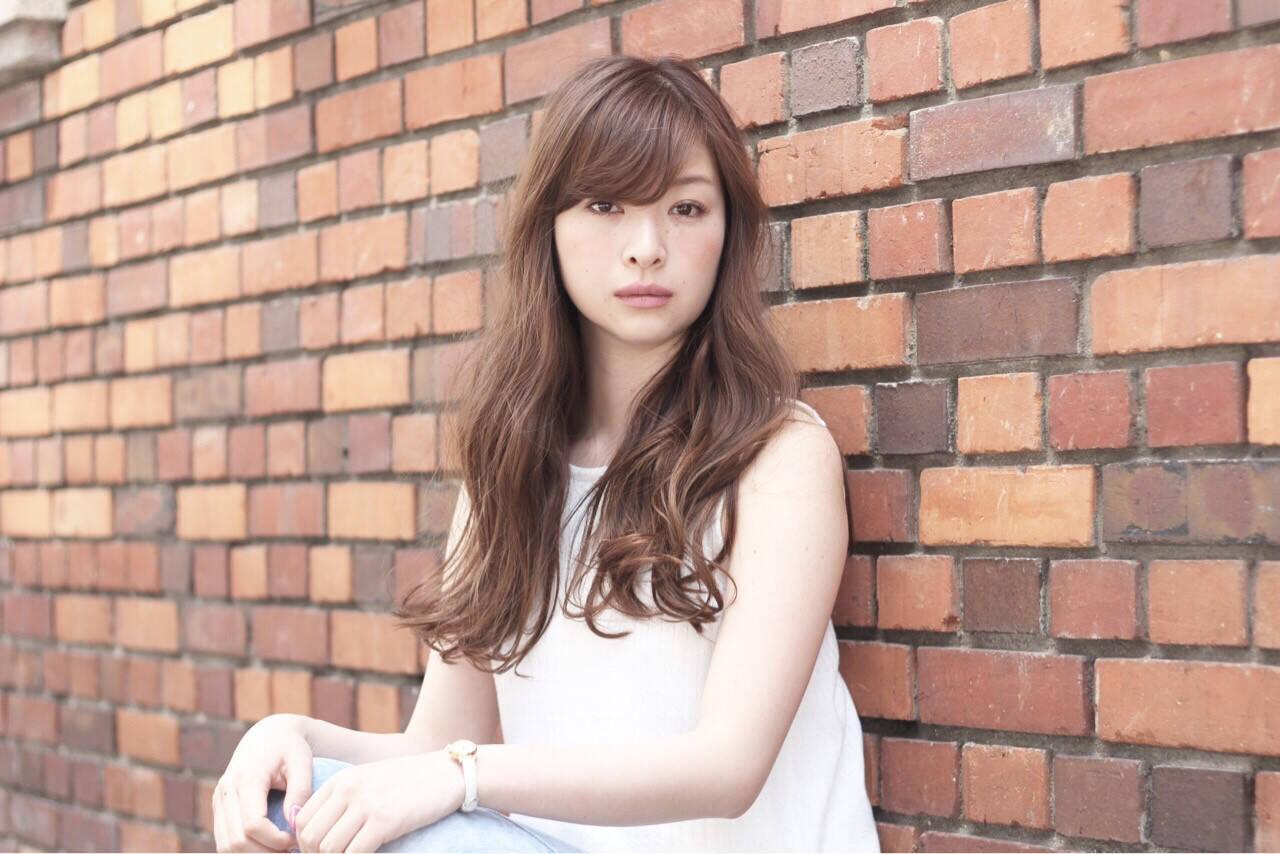アッシュ 前髪あり ストリート ロングヘアスタイルや髪型の写真・画像