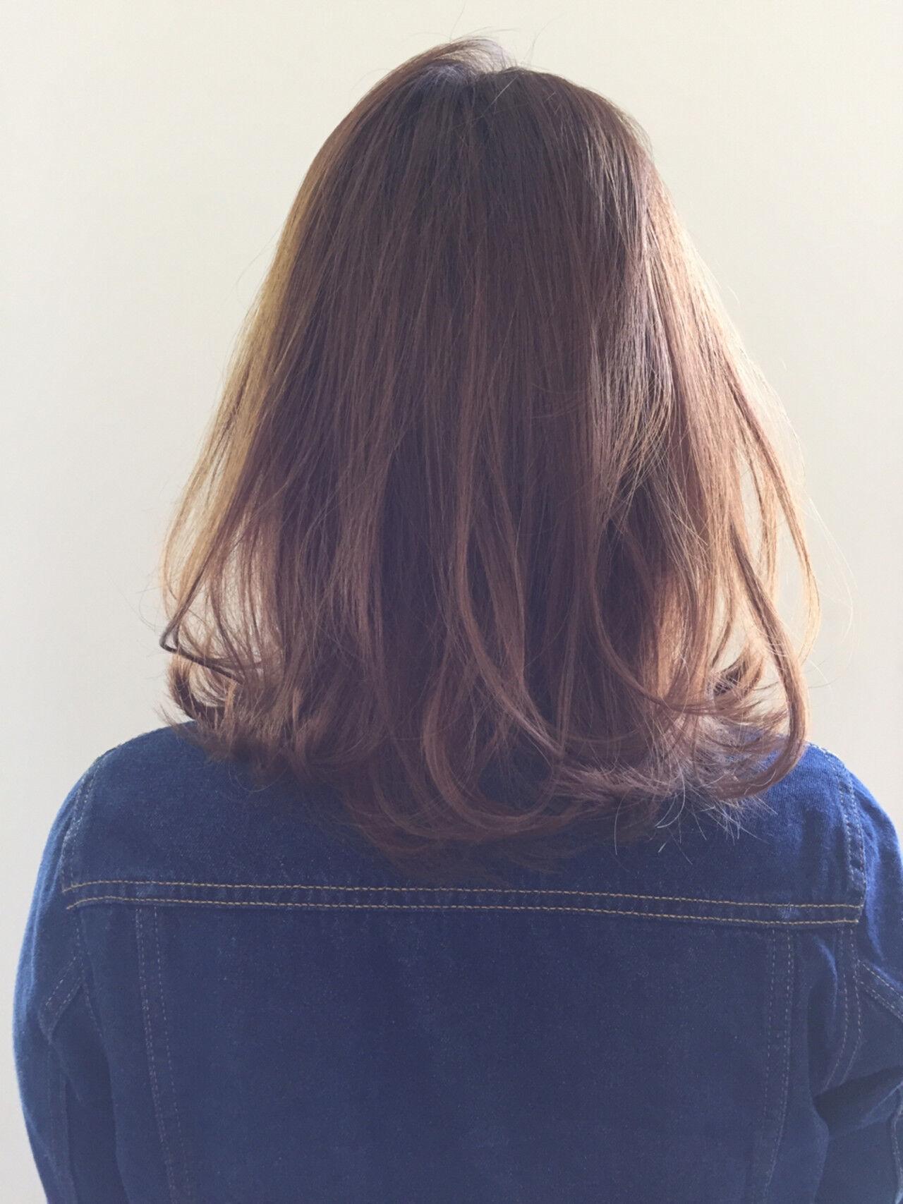 ナチュラル 透明感 外ハネ ミントヘアスタイルや髪型の写真・画像