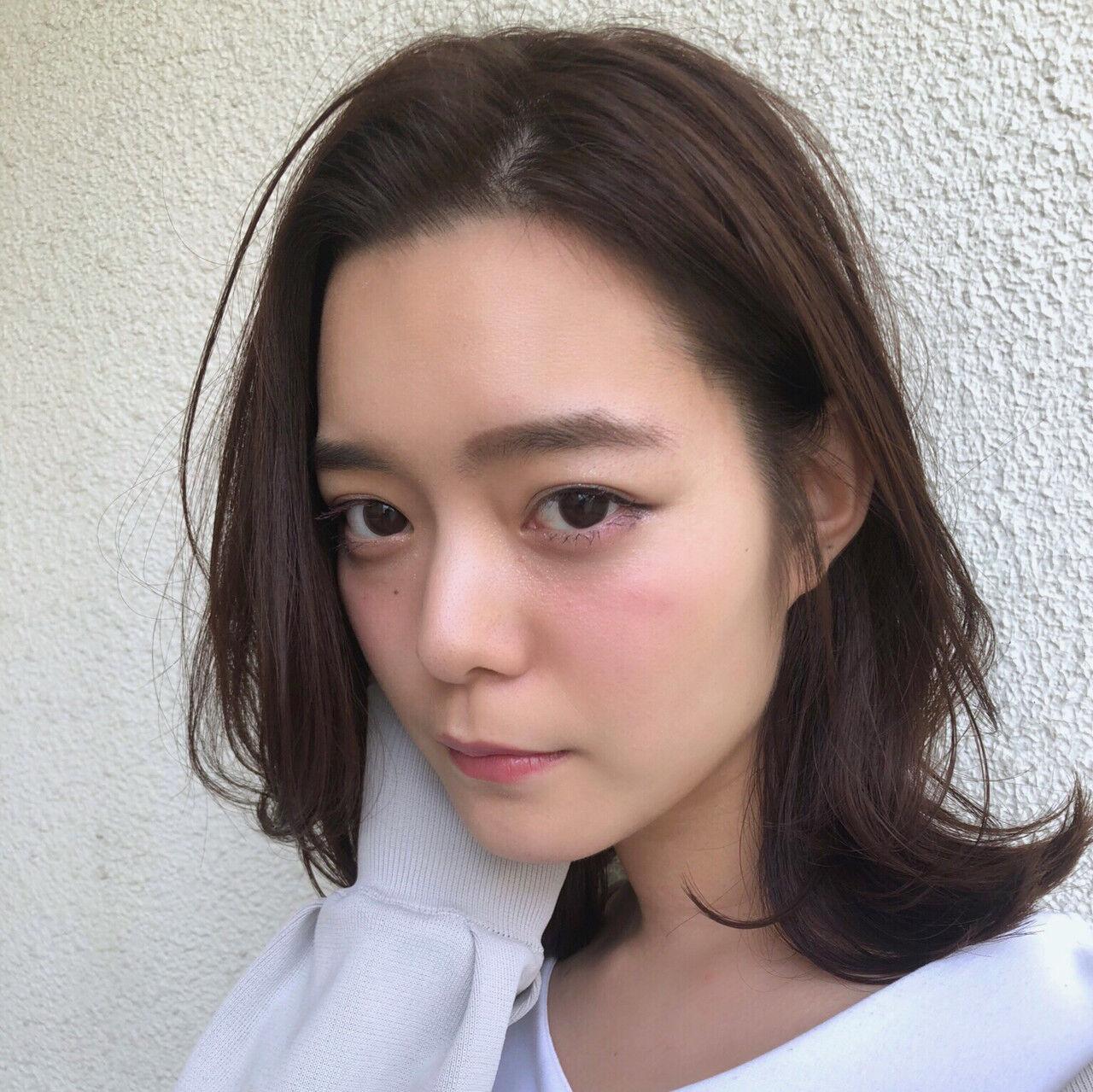 オーガニックカラー ミディアム 秋 女子力ヘアスタイルや髪型の写真・画像