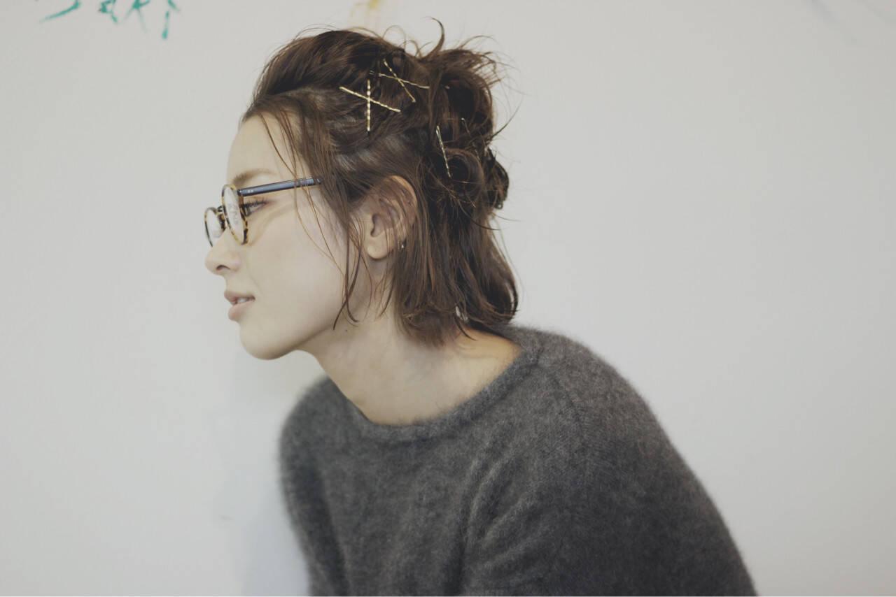 外国人風 ショート 簡単ヘアアレンジ ストリートヘアスタイルや髪型の写真・画像