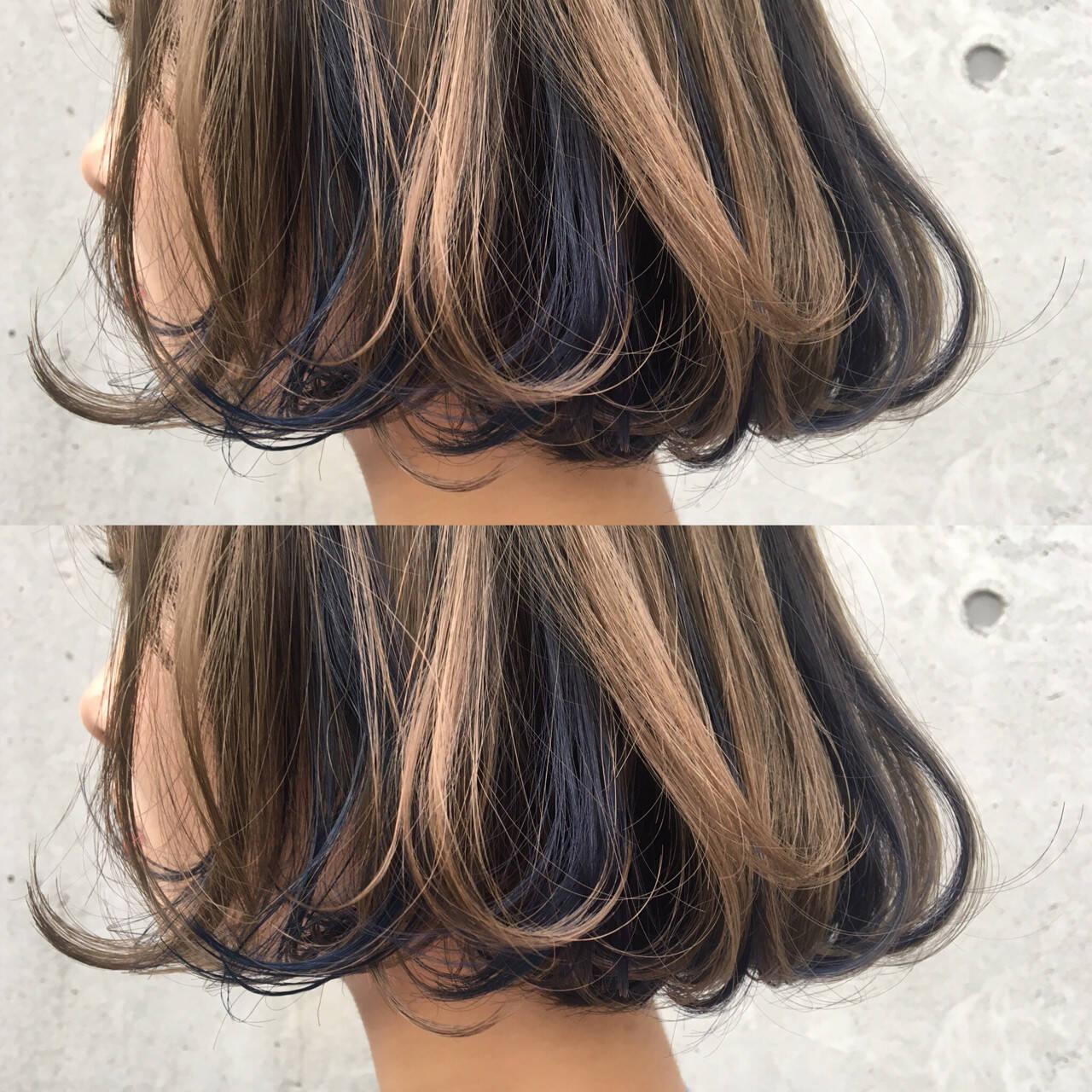 ストリート トレンド ボブ ブリーチヘアスタイルや髪型の写真・画像