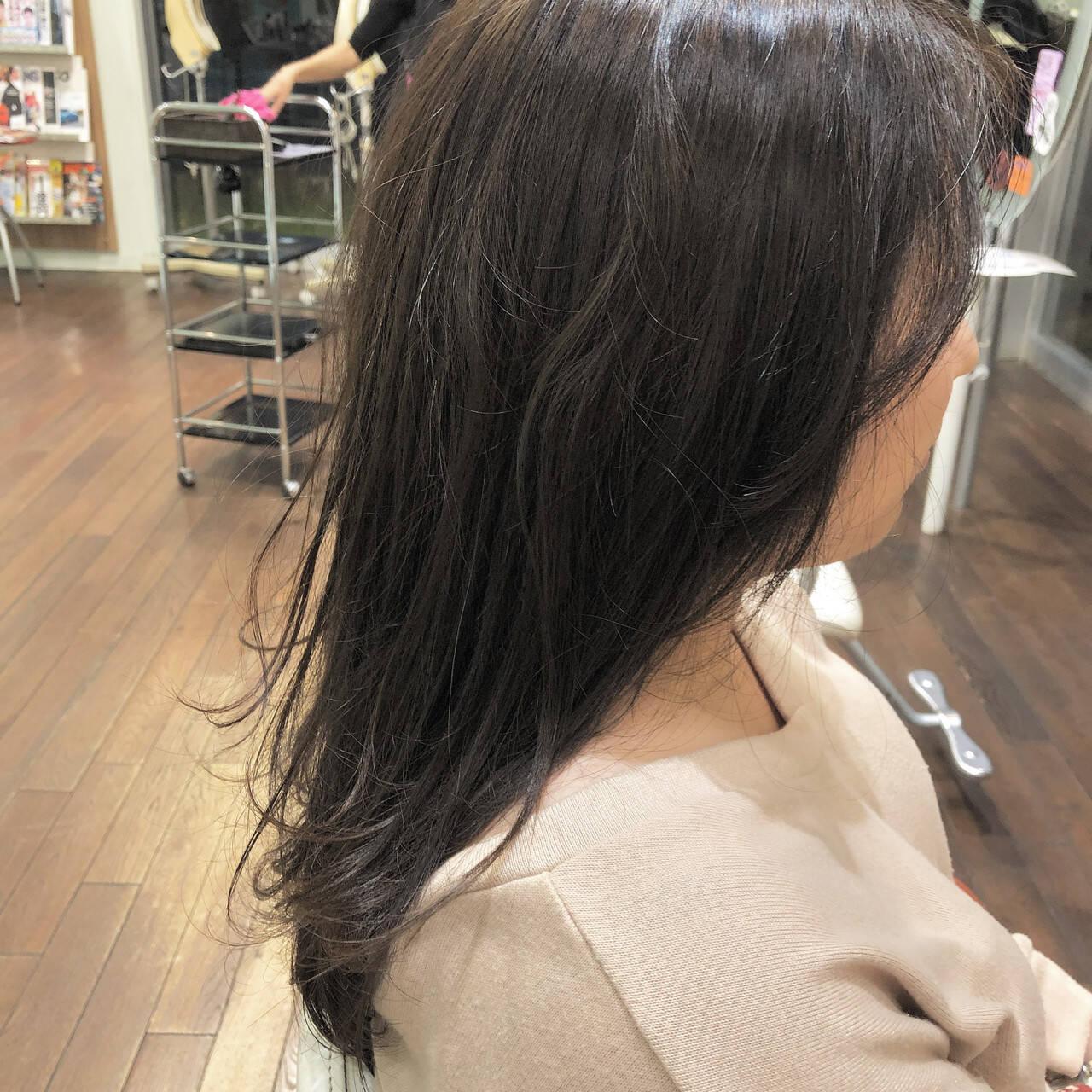 透明感 女子力 ナチュラル 秋ヘアスタイルや髪型の写真・画像