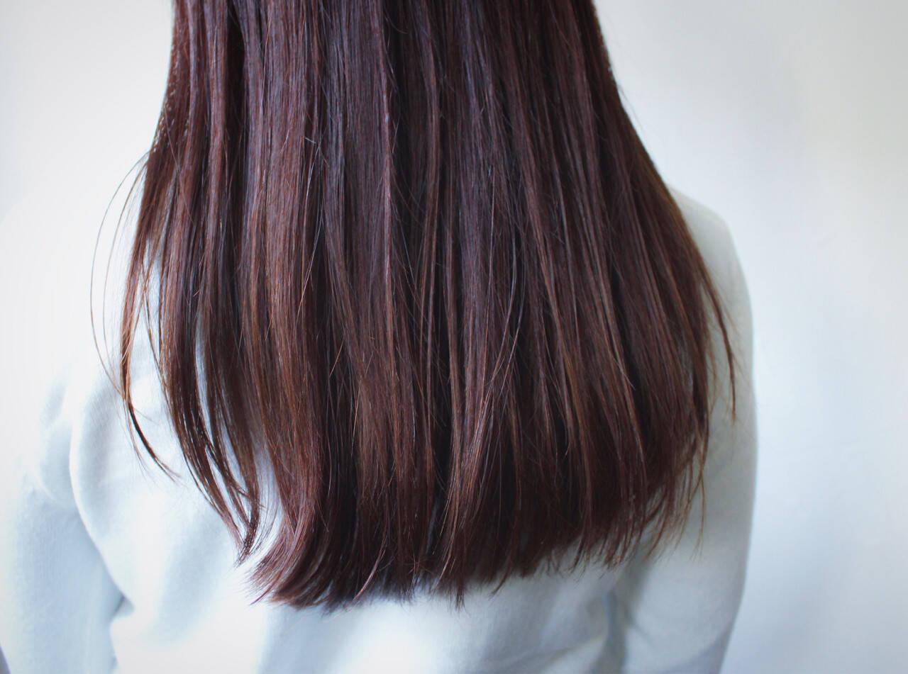 ラベンダーピンク グレージュ ナチュラル ロングヘアスタイルや髪型の写真・画像