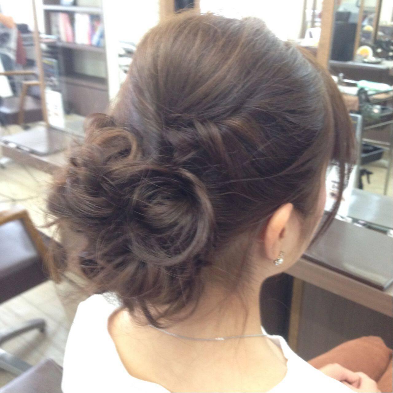 ガーリー ロング フェミニン ヘアアレンジヘアスタイルや髪型の写真・画像