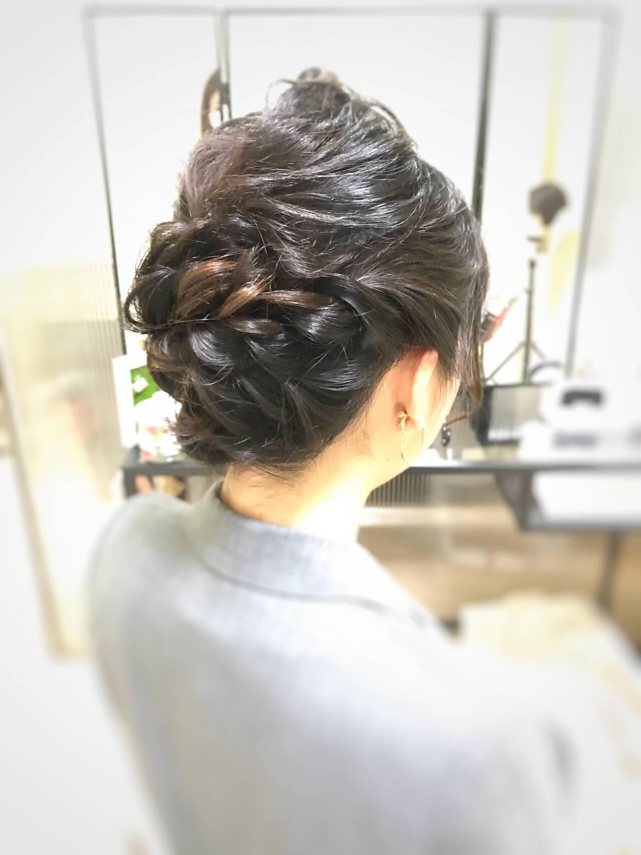 卒業式 ミディアム 結婚式 お呼ばれヘアスタイルや髪型の写真・画像