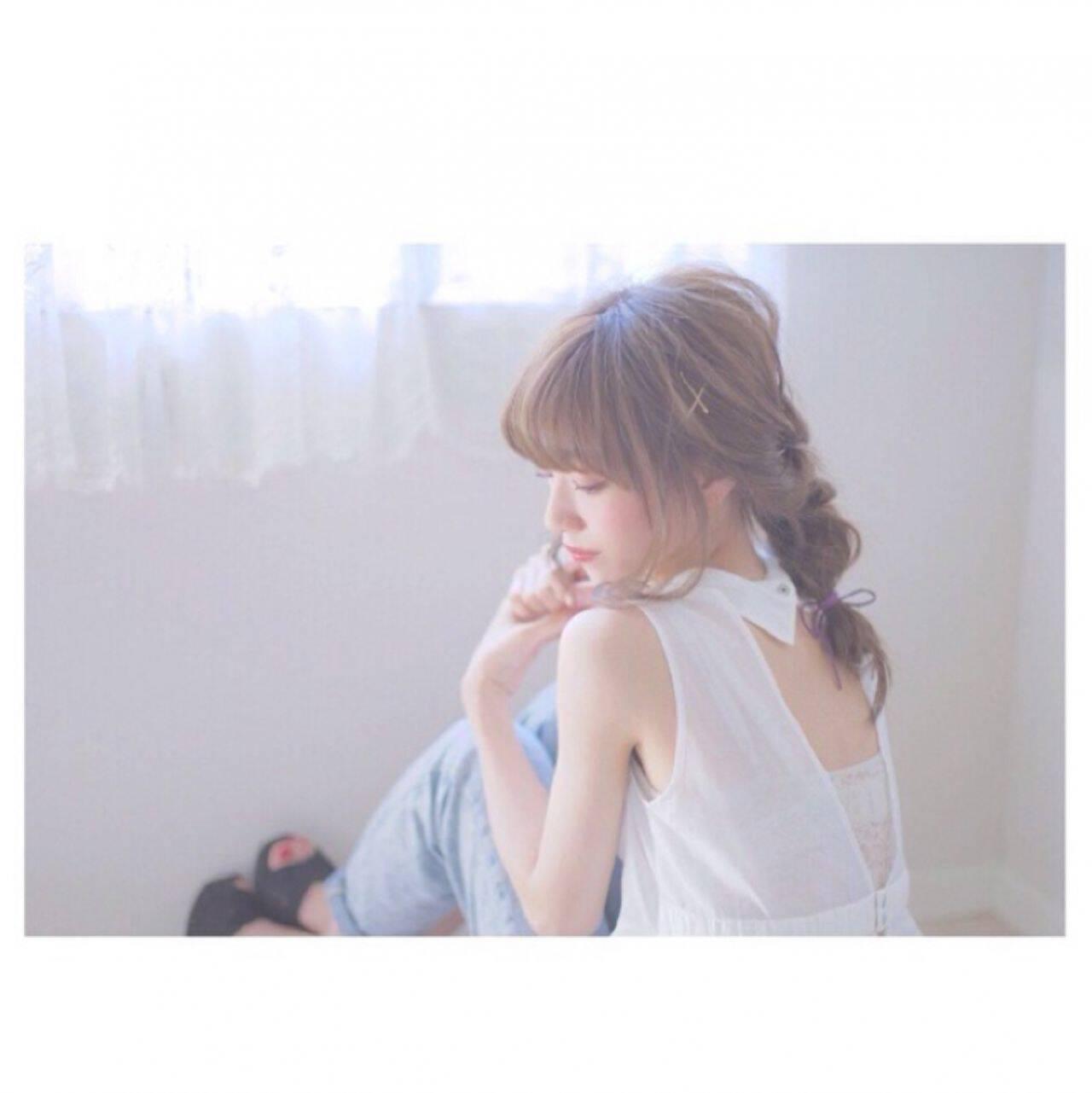 簡単ヘアアレンジ パンク ヘアアレンジ ショートヘアスタイルや髪型の写真・画像