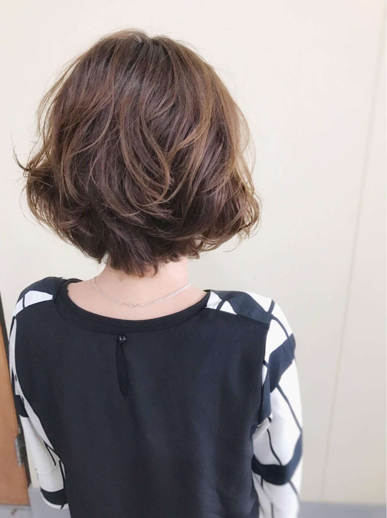 上品 ボブ 大人女子 ナチュラルヘアスタイルや髪型の写真・画像