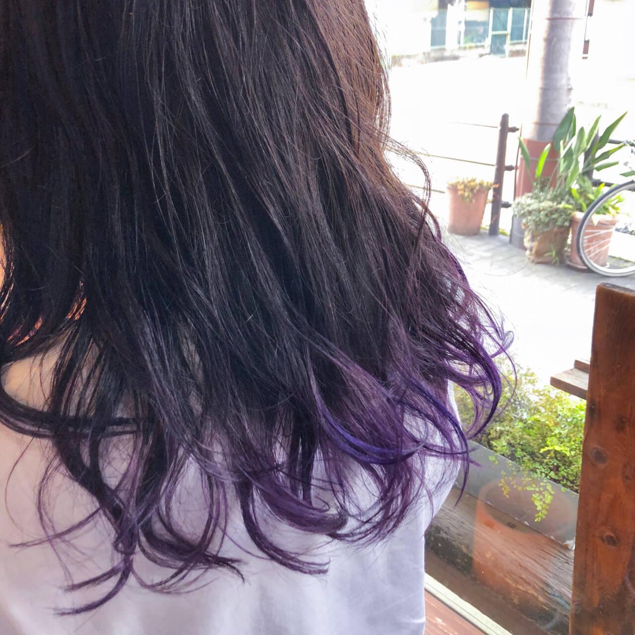 外国人風カラー ヘアアレンジ インナーカラー モードヘアスタイルや髪型の写真・画像
