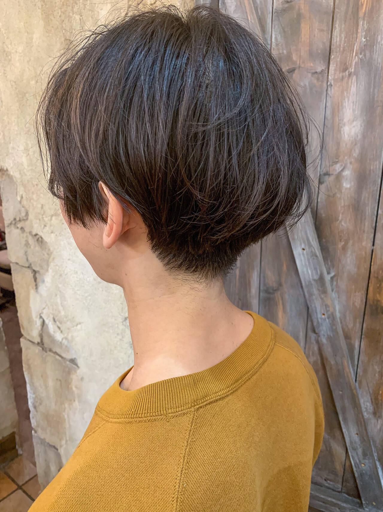 ナチュラル ショート ショートヘア メンズカットヘアスタイルや髪型の写真・画像