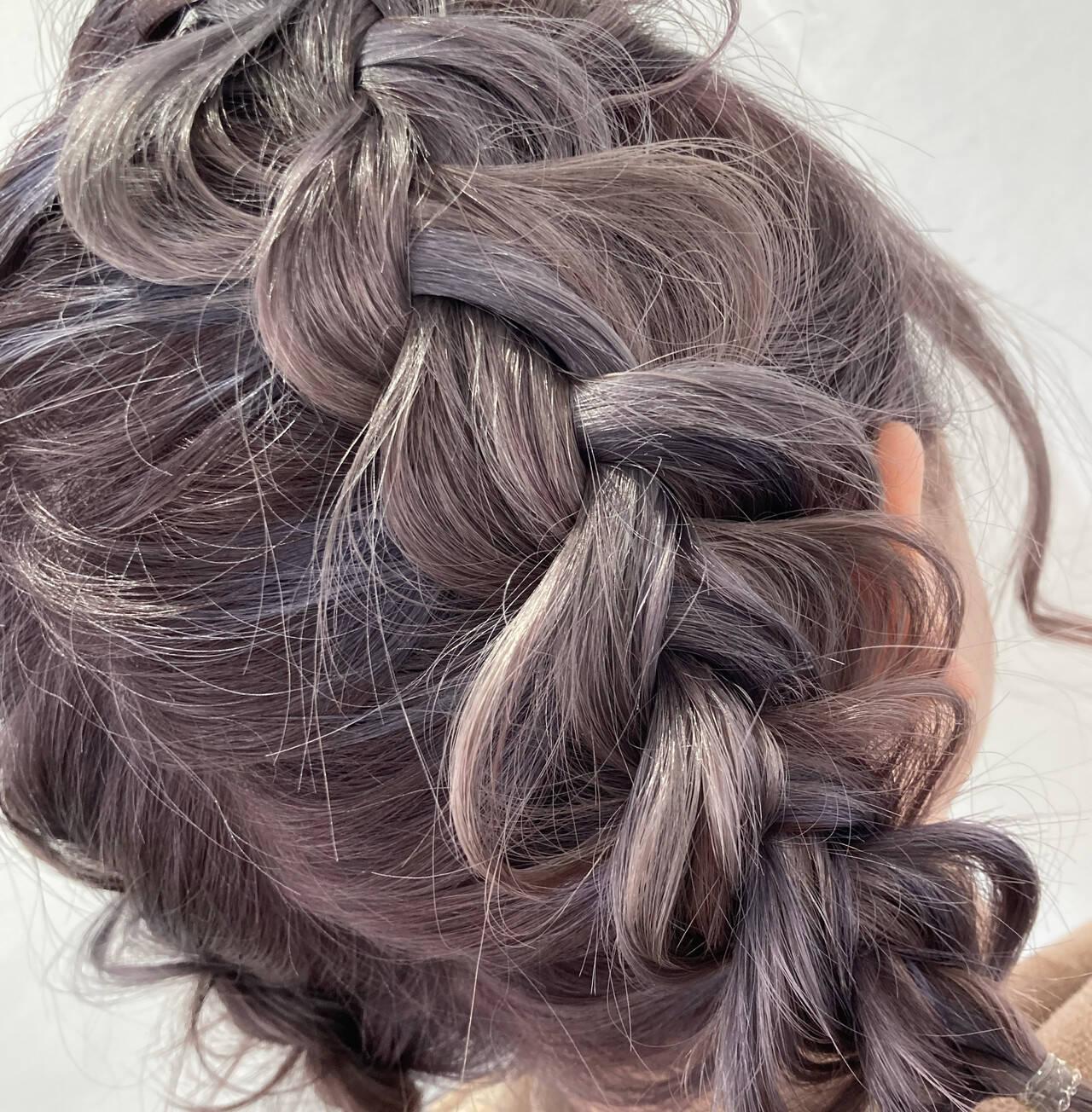 ブリーチ ボブ ヘアアレンジ 簡単ヘアアレンジヘアスタイルや髪型の写真・画像