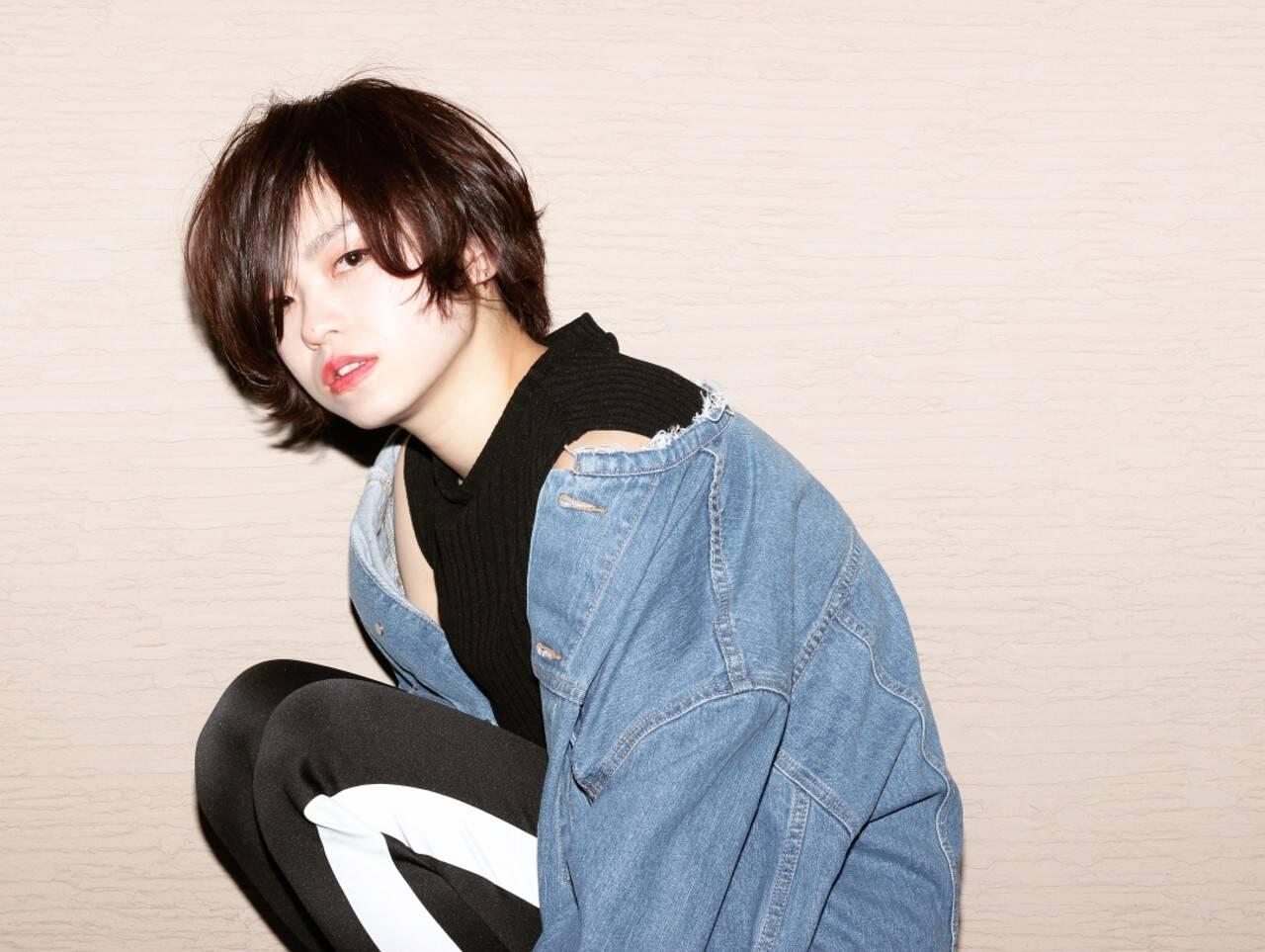 かっこいい 黒髪 マニッシュ ショートヘアスタイルや髪型の写真・画像