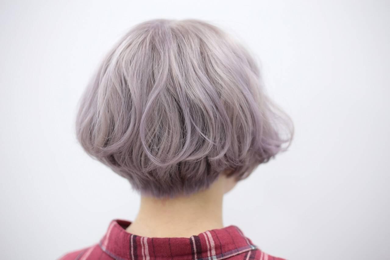 ホワイト ブリーチ モード ハイトーンヘアスタイルや髪型の写真・画像