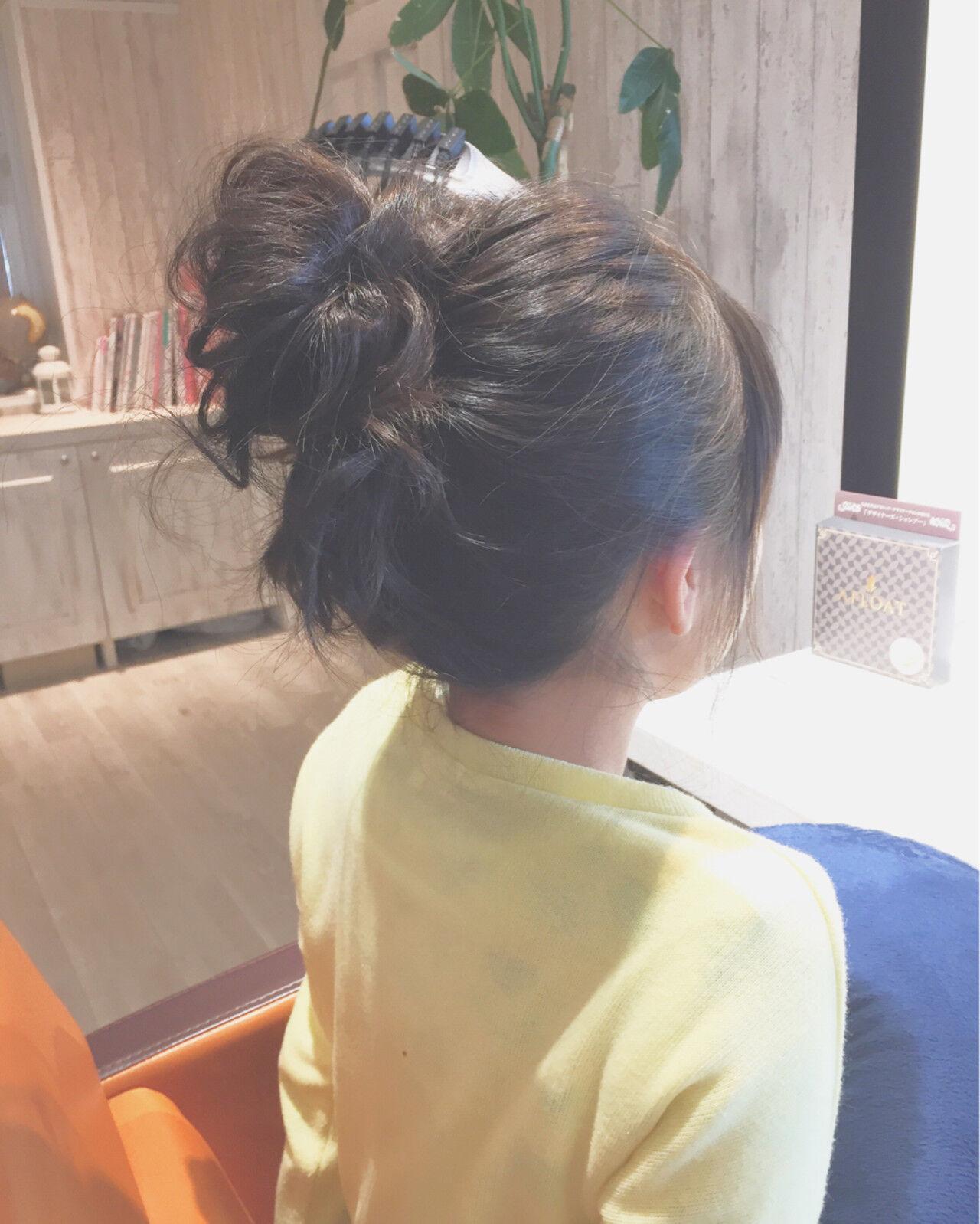 ゆるふわ ショート 簡単ヘアアレンジ お団子ヘアスタイルや髪型の写真・画像