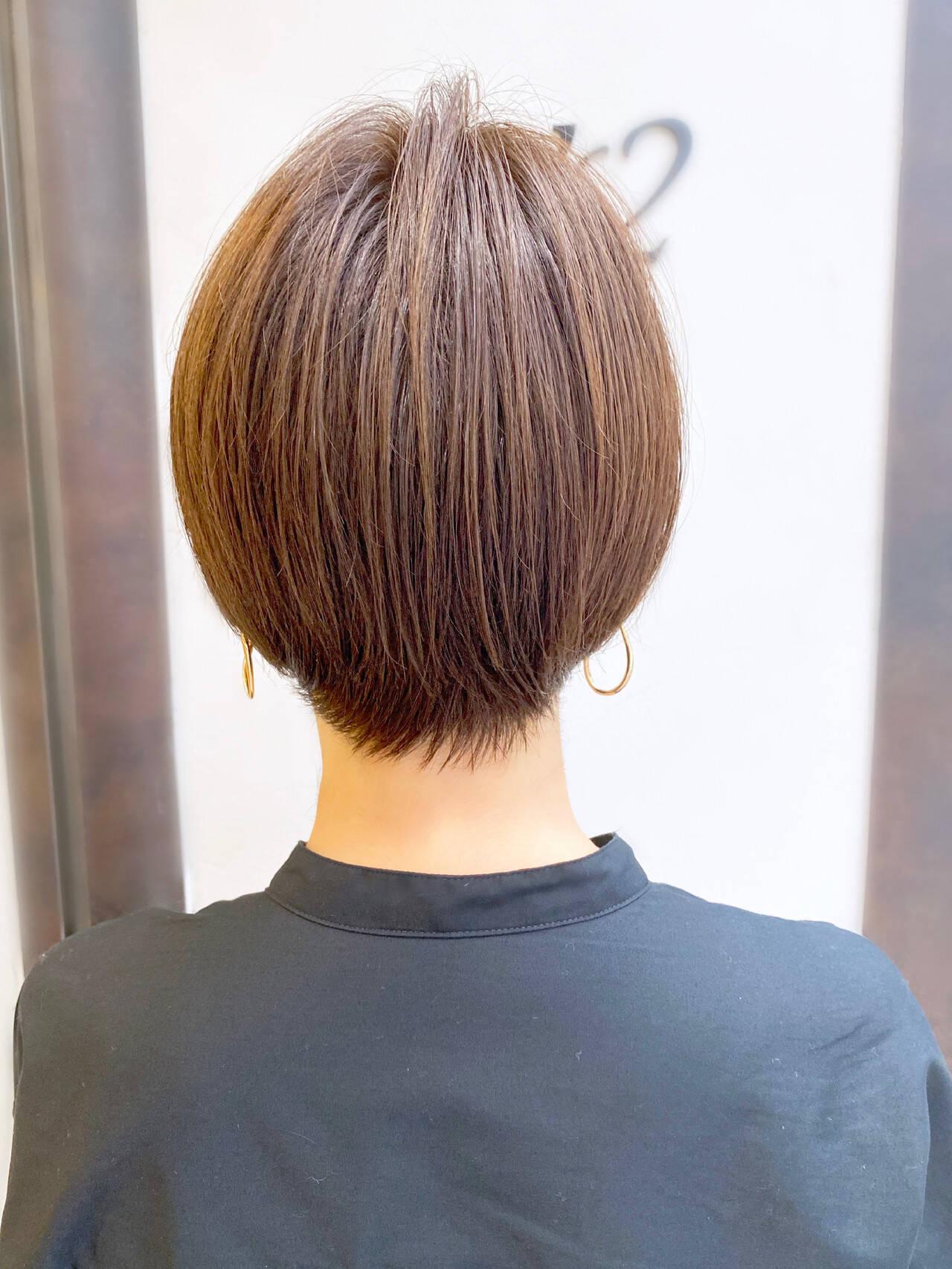 ナチュラル ショート 簡単スタイリング ショートヘアヘアスタイルや髪型の写真・画像