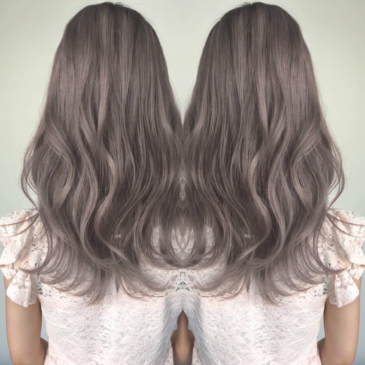 透明感 フェミニン セミロング 外国人風ヘアスタイルや髪型の写真・画像