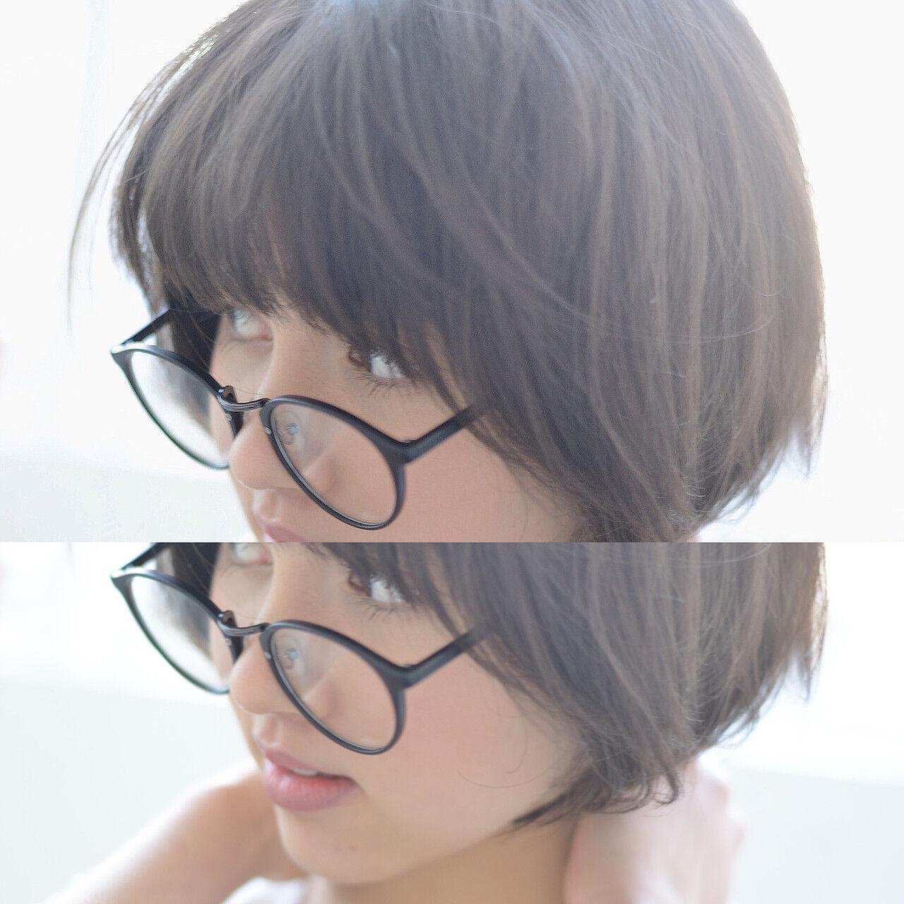 大人ショート ナチュラル マッシュ ショートマッシュヘアスタイルや髪型の写真・画像