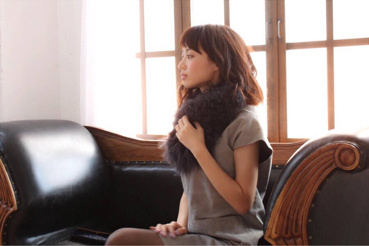 暗髪 大人女子 ヘアアレンジ ボブヘアスタイルや髪型の写真・画像