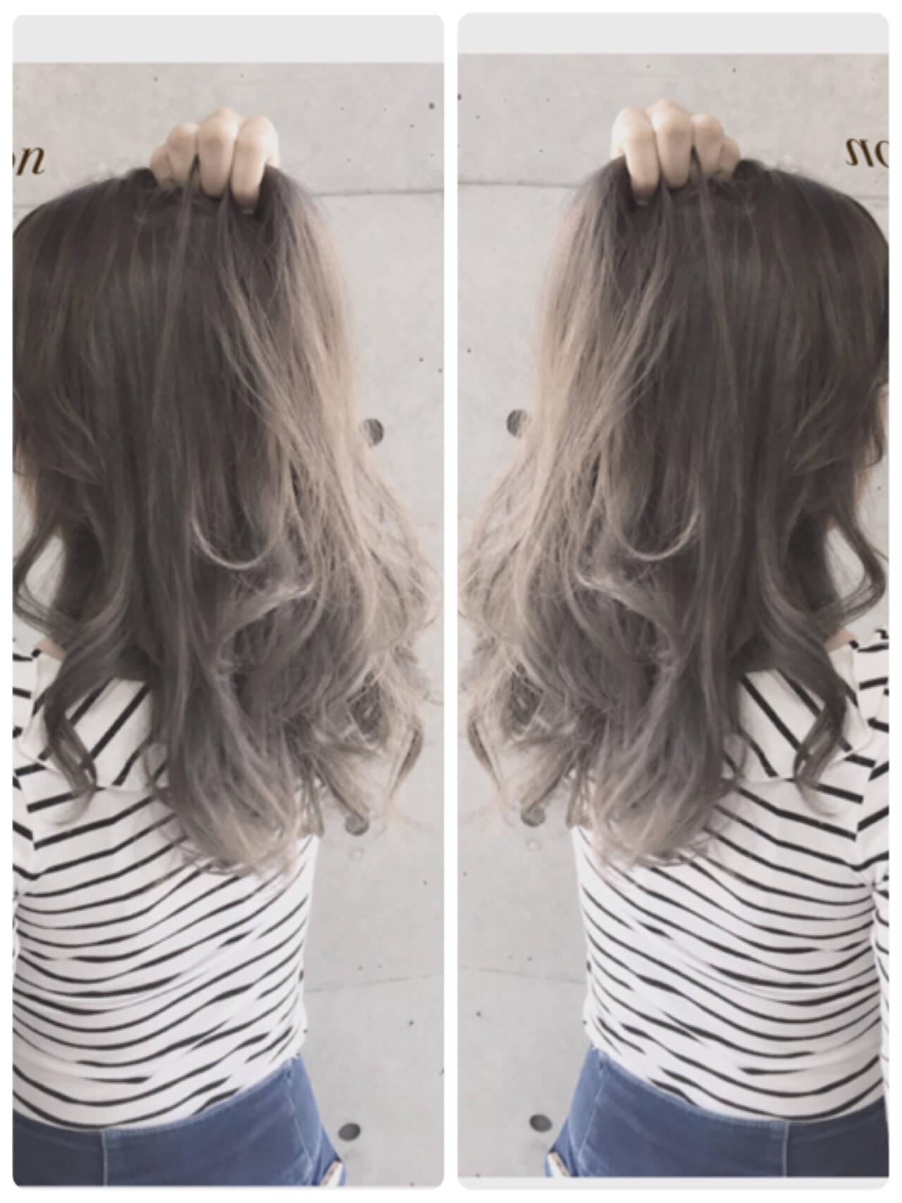外国人風 グラデーションカラー 渋谷系 アッシュヘアスタイルや髪型の写真・画像