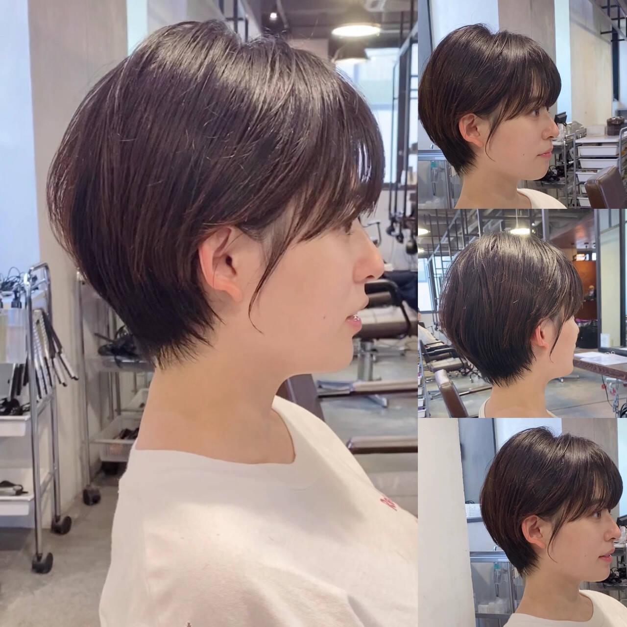 ショート 小顔ショート ショートヘア ショートボブヘアスタイルや髪型の写真・画像