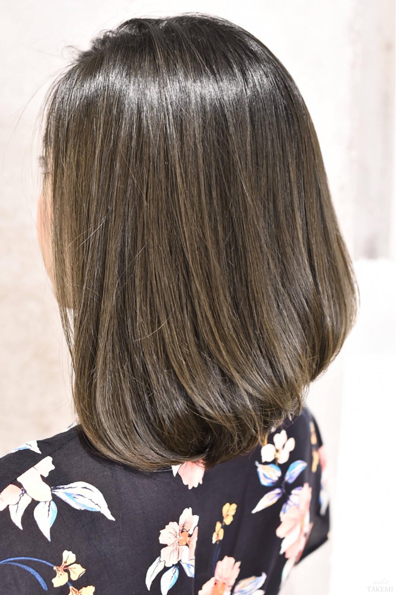 ナチュラル グラデーションカラー ボブ 外国人風カラーヘアスタイルや髪型の写真・画像