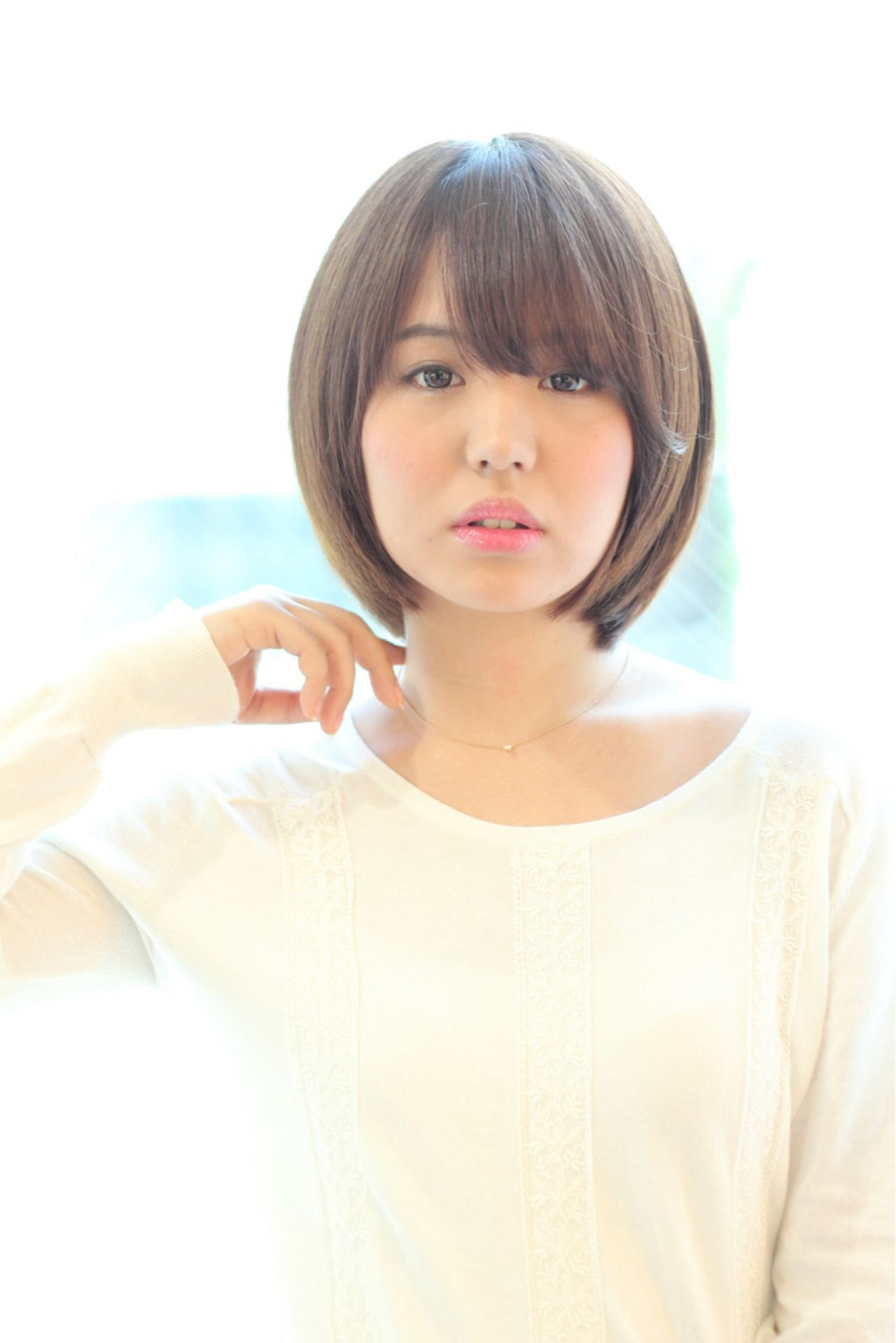 モテ髪 簡単 艶髪 ボブヘアスタイルや髪型の写真・画像