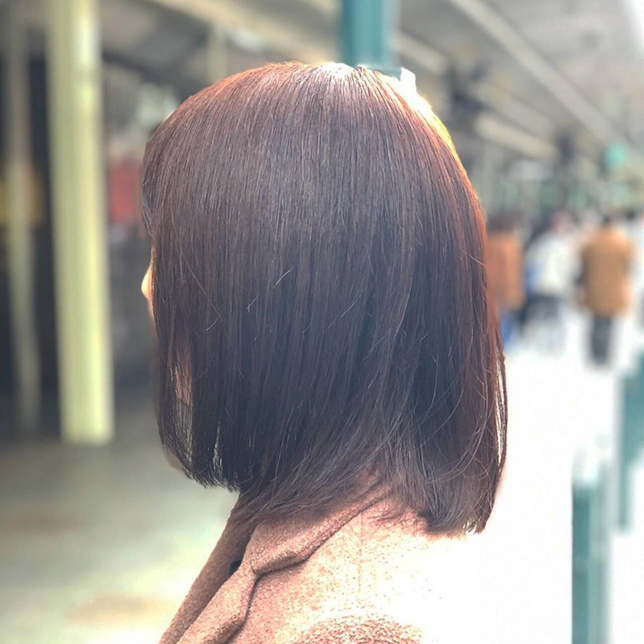 ピンクアッシュ ナチュラル ベリーピンク ラベンダーピンクヘアスタイルや髪型の写真・画像
