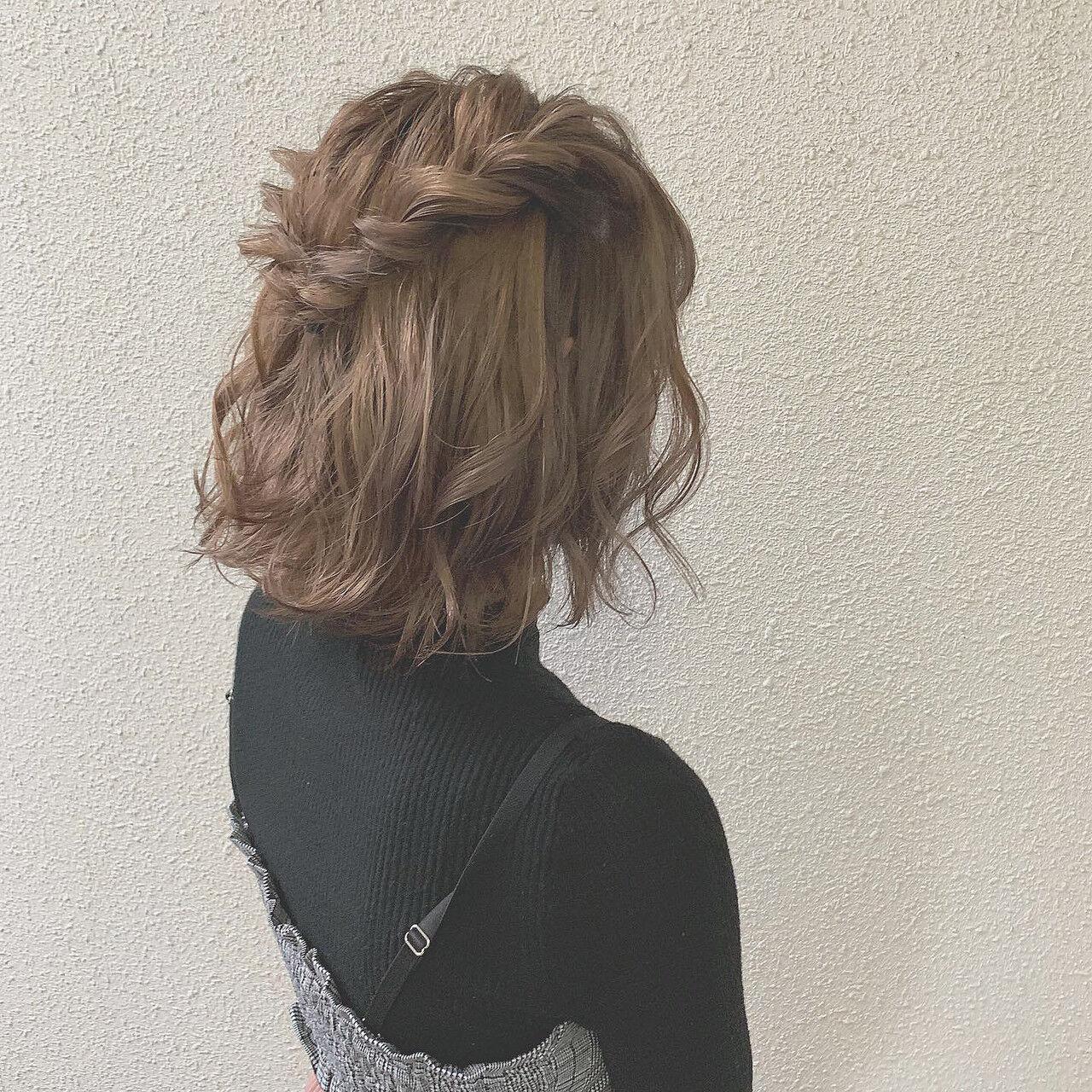 ミルクティーグレージュ ミルクティー ナチュラル 簡単ヘアアレンジヘアスタイルや髪型の写真・画像