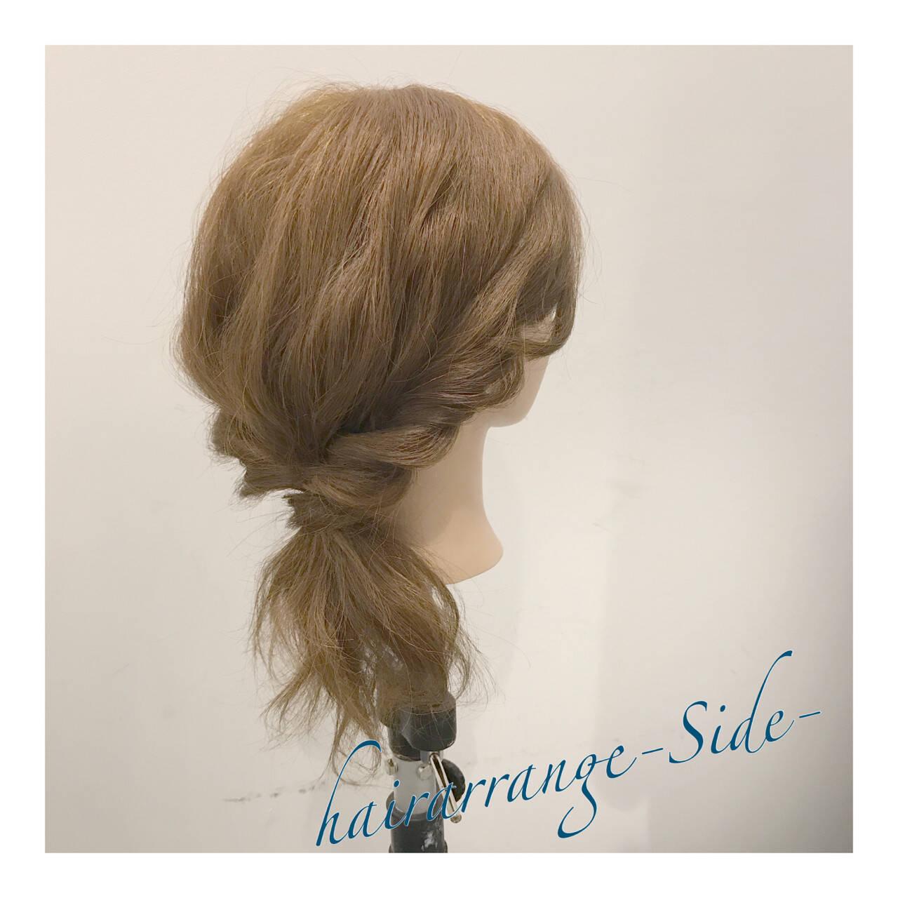 ヘアアレンジ 二次会 結婚式 セミロングヘアスタイルや髪型の写真・画像