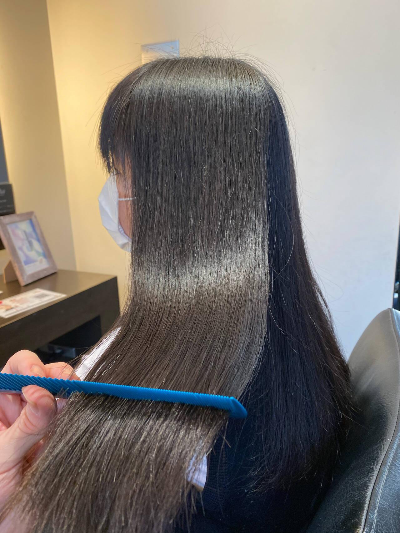 髪質改善 髪質改善トリートメント ロング ナチュラルヘアスタイルや髪型の写真・画像