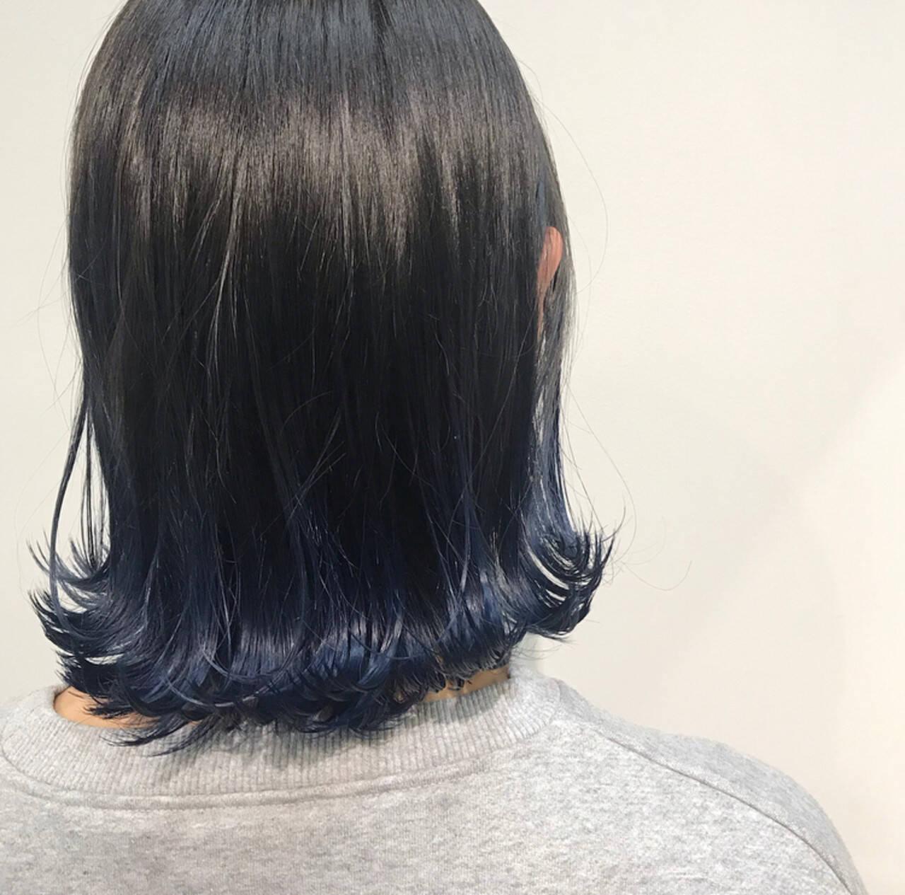 外ハネ ガーリー ボブ グラデーションボブヘアスタイルや髪型の写真・画像