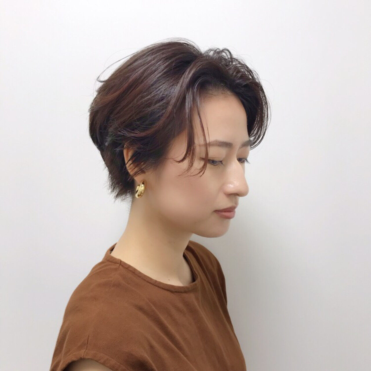ピンク エレガント ショート ヘアアレンジヘアスタイルや髪型の写真・画像
