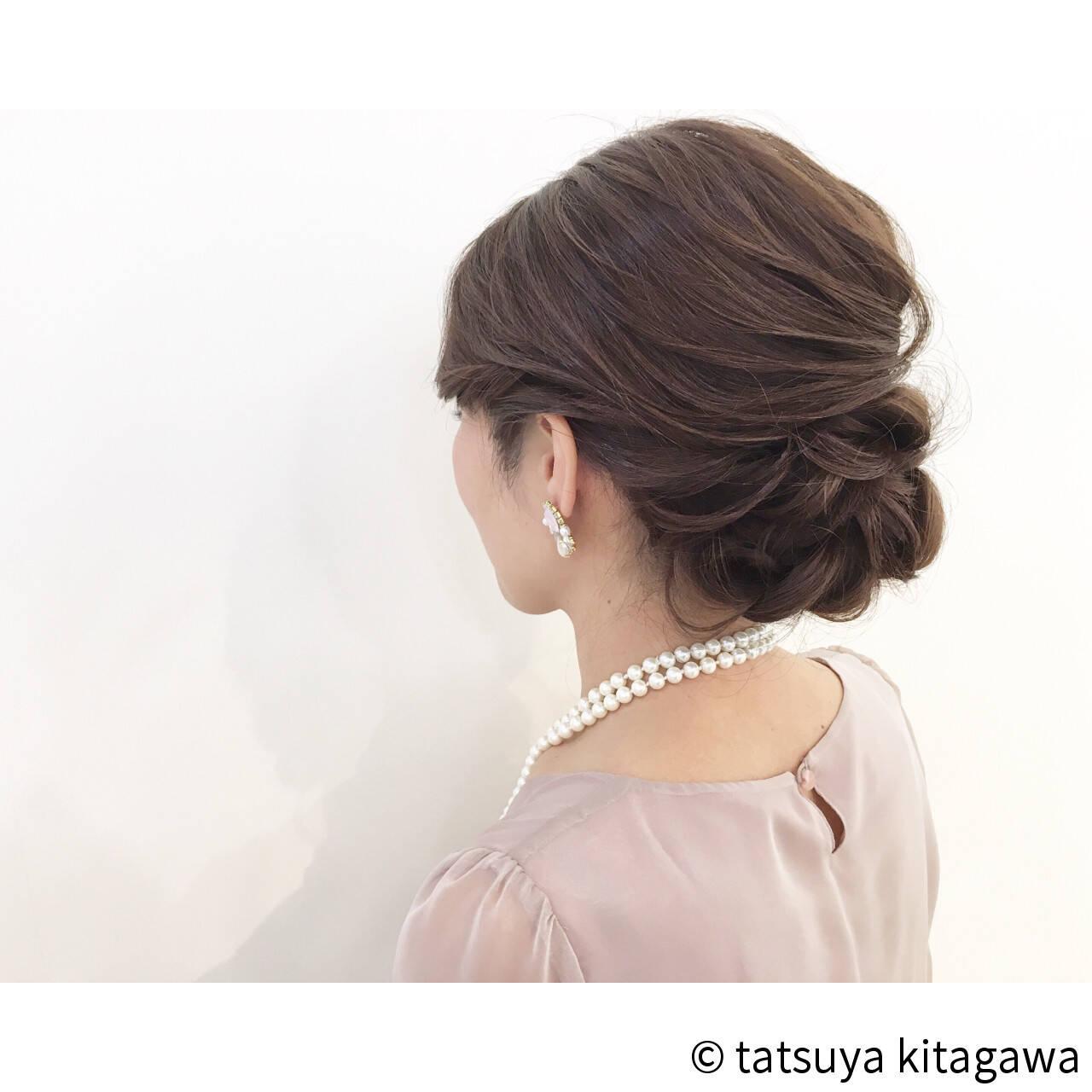 外国人風 結婚式 上品 アップスタイルヘアスタイルや髪型の写真・画像